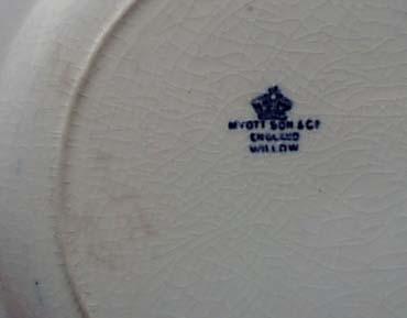 Myott Willow Blue Dinner Plate