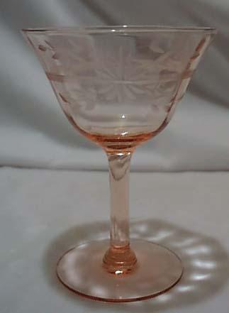 Fry Glass Unknown pattern tall sherbet