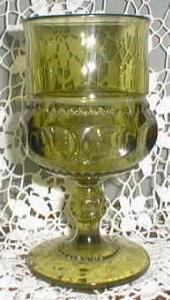 Colony Color Crown Water Goblet in Green