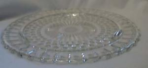 Sunflower Cake or Serving Tray in Crystal