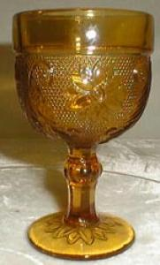 Indiana Glass Tiara Wine Glass in Amber
