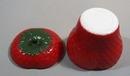 Milk glass strawberry bowl & lid