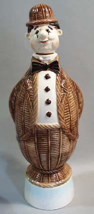 Liquor Decanter Man in basket suit