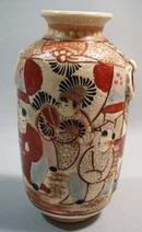 Satsuma little oriental vase