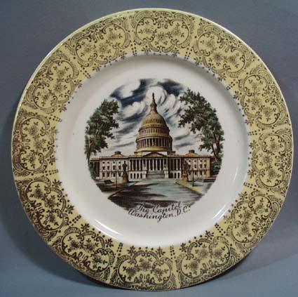 The Capitol Washington DC collectors Plate