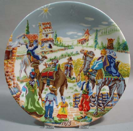 Towle Royale Limoges Noel the Three Wise men plate