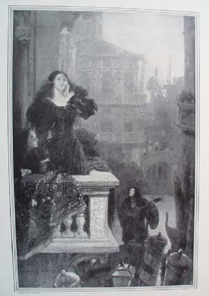 1908 Under the Venice Moon by Louis Loeb original print