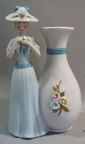 Girl and Vase Figurine Porcelain