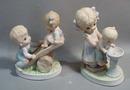 Homco Co.  Figurines Drinking Fountain