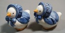 Geese with blue bonnets  Salt & pepper shakers
