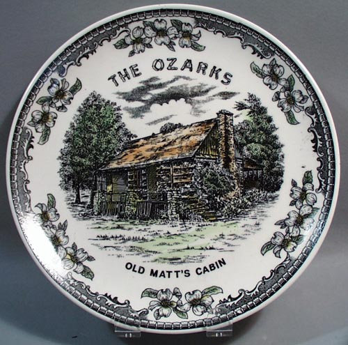 The Ozarks Old Matt's Cabin Souvineer Plate