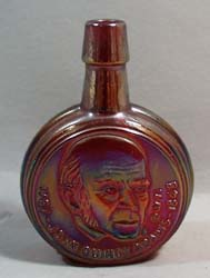 Red Carnival Glass Adams mini wheaton bottle
