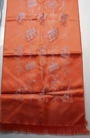Silk Scarf featuring French Buildings