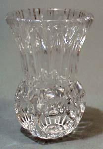 Glass toothpick thumbprint type design