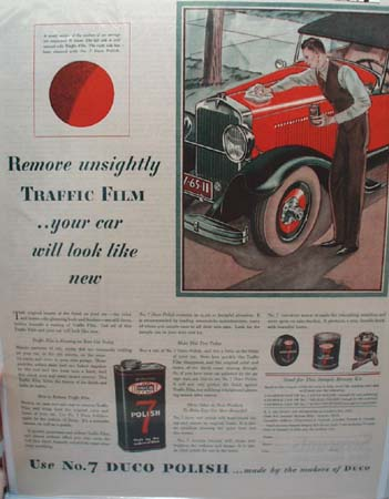 Duco Polish for Cars New Look Ad 1929