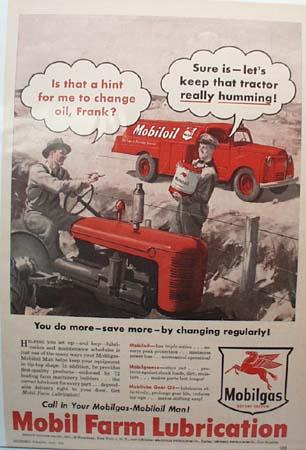 Mobilgas Farm Lubrication Ad 1951
