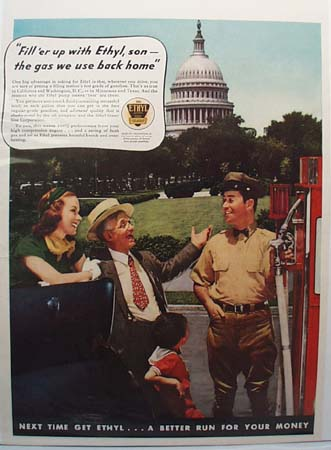 Ethyl Gasoline Fill'er Up Ad 1937