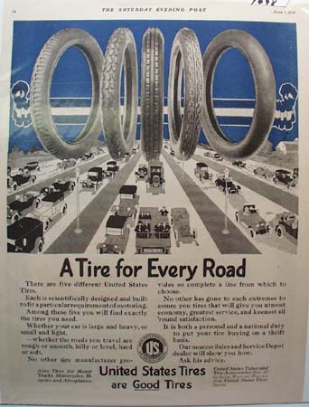 United States Tires Ad 1918