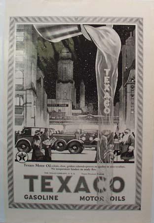 Texaco Merry Christmas Motor Oil Ad 1923