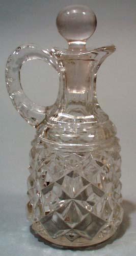 Glass cruet.  Nice pressed glass cruet