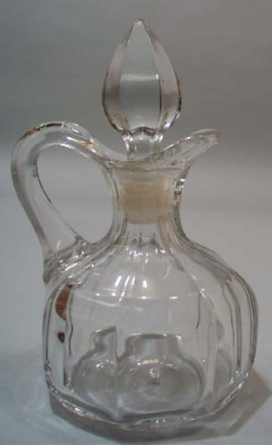 Late 1800's cruet. Wide panel design