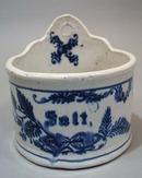 Old Blue Salt Wall Pocket with Salt glaze