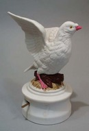Peace dove music box by Inarco plays the 12 days of Christmas