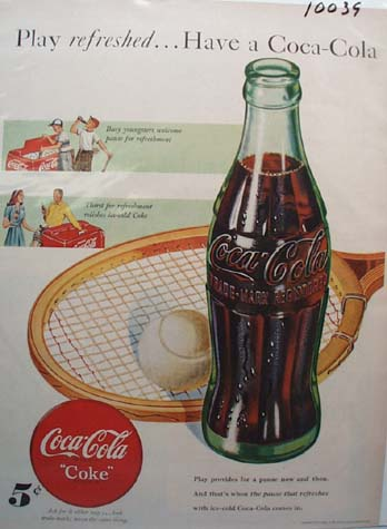 Coca-Cola Play Refreshed Ad 1948