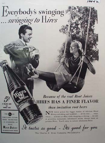 Hires Root Beer Everybody's Swinging Ad 1937