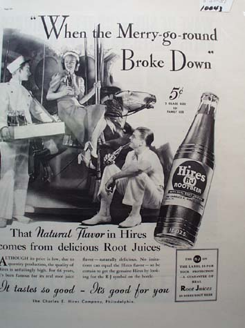 Hires Root Beer Merry Go Round Ad 1937