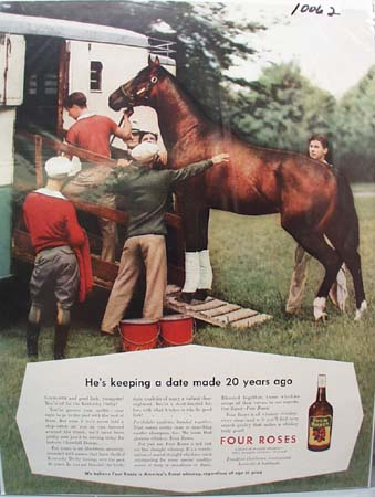 Four Roses Keeping a Date Whiskey Ad 1938