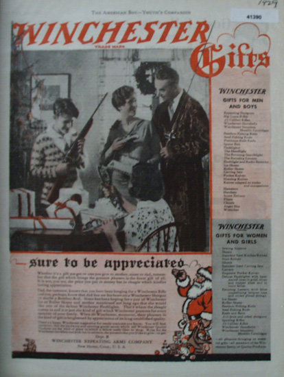 Winchester Gifts 1929 Ad