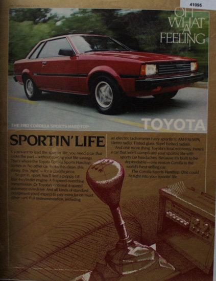 Toyota Corolla 1982 Car Ad