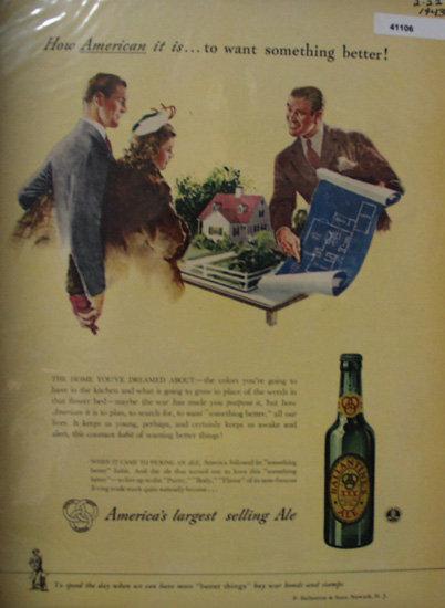 Ballantines Ale 1943 Ad