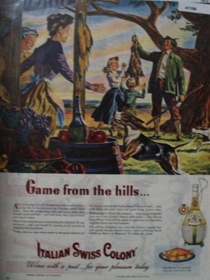 Italian Swiss Colony Wine 1945 Ad