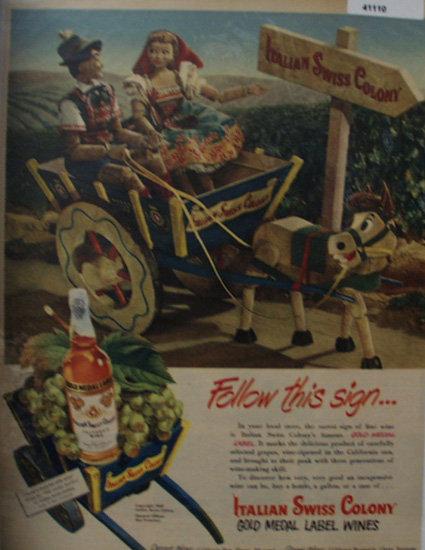 Italian Swiss Colony Wine 1949 Ad