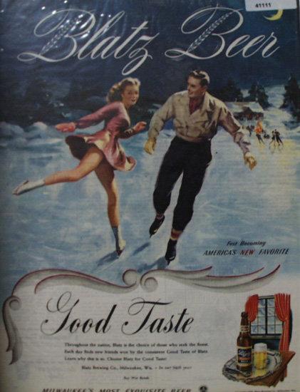 Blatz Beer 1945 Ad