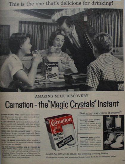 Carnation Instant Dry Milk 1956 Ad