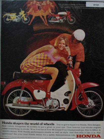 Honda 90 Motorcycle 1967 Ad