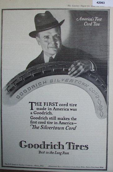 Goodrich Tires 1920 Ad.