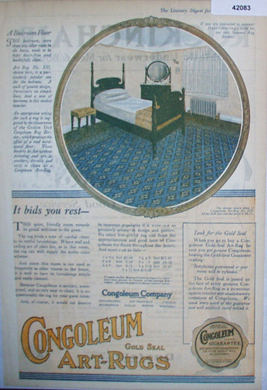 Congoleum Art Rug 1920 Ad
