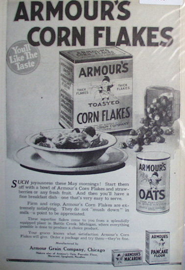 Armours Corn Flakes 1920 Ad
