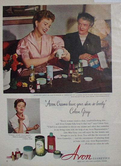 Avon Cosmetics 1952 Ad