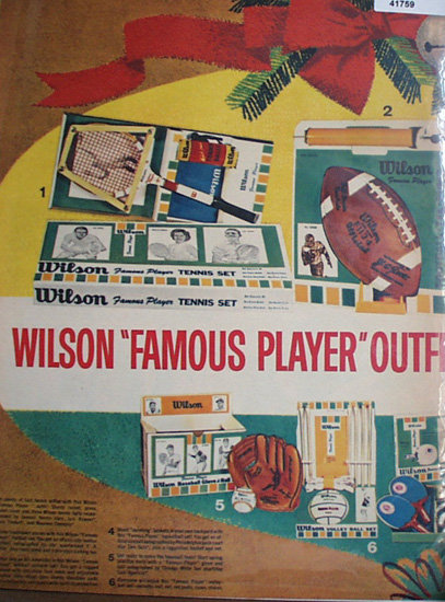 Wilson Sporting Goods Outfits 1962 Ad