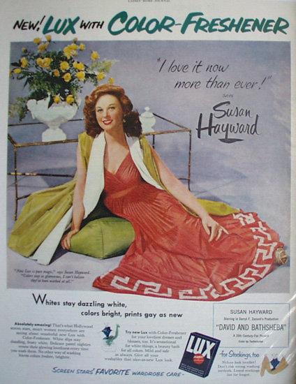 Lux Soap Flakes Susan Hayward 1951 Ad