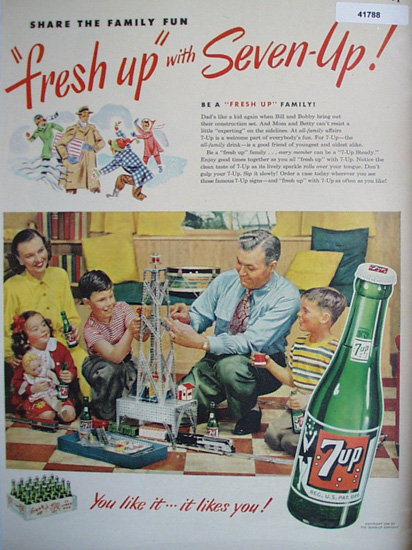 7up You Like It It Likes You 1949 Ad.