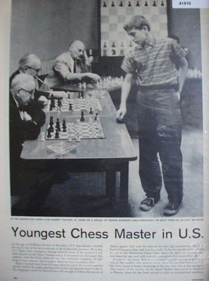 Robert Fischer Youngest Chess Master 1957 Article.