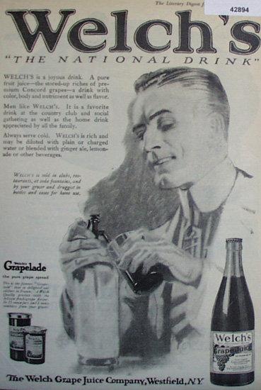 Welch's Grape Juice 1920 Ad.
