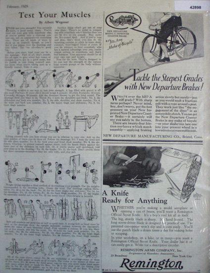 New Departure Bicycle Brakes 1929 Ad.