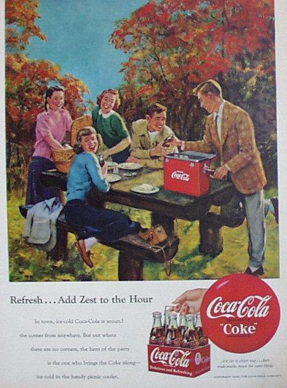 Coca Cola Coke 1950 Ad